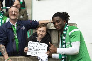 One fan pleaded with Stephane Omeonga to stay. Picture: SNS/Ross Parker
