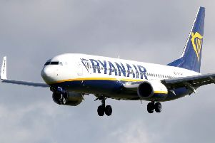 Ryanair's full year profits have fallen 29% to 1.02 billion euros (�890m), the company said. Picture: Niall Carson/PA Wire