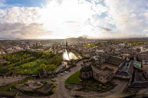 The 360-degree view was taken with a drone above Edinburgh Castle. Pic: David Crum