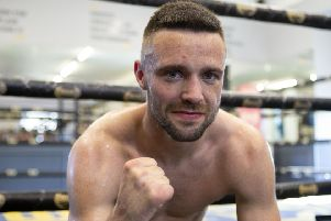 Josh Taylor celebrates beating Ivan Baranchyk  for the IBF world super-lightweight title at The SSE Hydro, Glasgow. PRESS ASSOCIATION Photo. Picture date: Saturday May 18, 2019. Photo credit should read: Graham Stuart/PA Wire