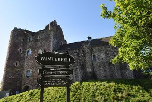 Doune Castle in Stirlingshire was used as a location in the hit show Game of Thrones and has now been temporarily renamed as 'Winterfell' in its honour. PIC: Contributed.