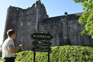 Doune Castle has been renamed as Winterfell to mark the release of the final season of the ground-breaking Game of Thrones series as a digital download (Picture: Julie Howden)