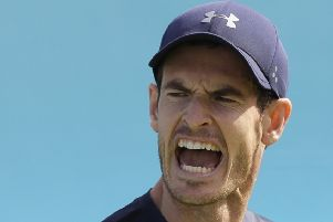 Andy Murray has been playing a lot of golf during his rehabilitation. Picture: AP.