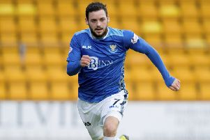 Drey Wright in action for St Johnstone. Pic: SNS