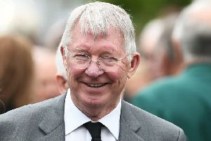 Sir Alex Ferguson saw Hearts lift three cups. Picture: John Devlin