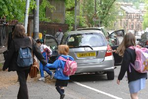 The number of children walking, cycling, scootering, or skating to school in Scotland has fallen to an all time low.