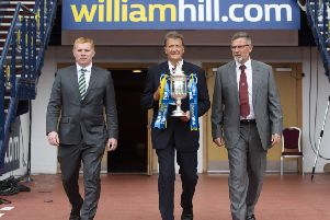 Hearts boss Craig Levein, right, and Celtic manager Neil Lennon will go head to head once more. Picture: SNS