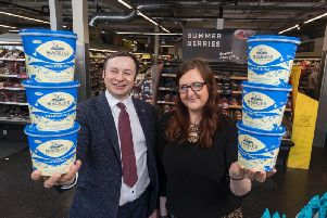 Bill Thain, Mackies national account manager, with Leigh Brogan, M&S Inverurie store manager. Picture: Newsline Media