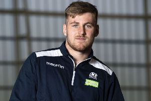Tom Marshall scored two tries for Scotland U20 against Old Glory. Picture: Gary Hutchison/SNS/SRU