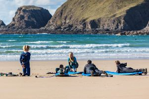 Iona McLachlan plans to run most of her surfing lessons in the beginner-friendly waves of Dunnet Bay