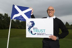 Rangers great Mark Hateley promotes mental health awareness at the SPFL Trust golf day. Picture: Paul Devlin/SNS