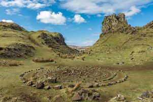 A rock formation in Fairy Glen, another destination on the Skye 'tick list'. Islanders have taken to removing the stone stacks which are built with rocks taken from old walls in the glen.