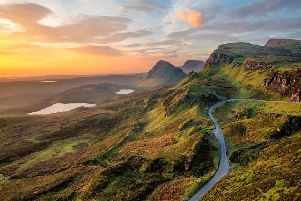 Slow down and take time to appreciate the sunrise at Quiraing on the Isle of Skye
