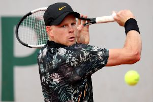 Kyle Edmund is battling to be fit in time for Wimbledon. Picture: Getty.
