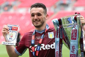 John McGinn was man of the match as Aston Villa won the promotion play-off final at Wembley. Picture: Getty.