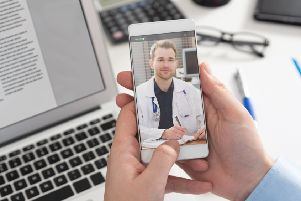 How a doctor's appointment on a smartphone might look.