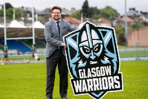 The new Glasgow Warriors badge.