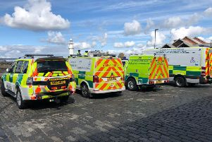 Paramedics arrived at the harbour this morning