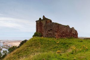 The ruin of Red Castle above Lunan Bay. Picture : Paul Tomkins / VisitScotland