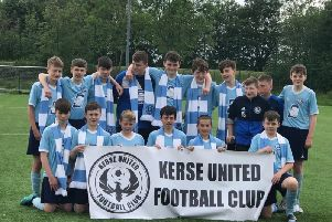 League and Cup double winners Kerse United.