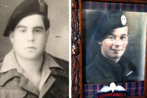 Commando Ren Rossey (left) was just 16-years-old on D-Day  with the sounds of 'mad piper' Bill Millin (right) stunning the enemy and buying the Free French soldier vital moments to escape from enemy gunfire. PICS: PA/Europe Remembers.