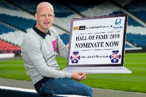 Steven Naismith, at Hampden to promote the Scottish Football Hall of Fame, says he is not looking at any option other than Hearts. Picture: SNS.