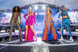 The Spice Girls take to the stage in Edinburgh tonight. Picture: PA