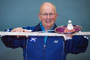 Badminton coach Andy Cooke, from Grangemouth,  has been awarded an MBE.'' Picture: Lenny Warren / Warren Media