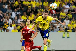 Mikael Lustig was speaking while on international duty with Sweden. Picture: AFP/Getty Images