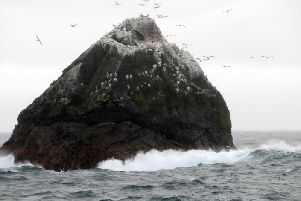 Rockall is 240 miles off the Scots mainland