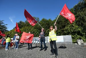 United the union says workers will strike on five days this month. Picture: Picture: John Devlin