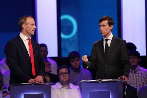 The leadership debate on Channel 4 tonight. Picture: PA