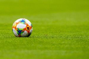 A general view of a ball before a match