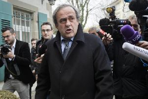 Michel Platini, pictured earlier this year, has been detained for questioning by French police