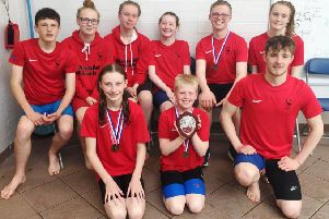 The Duns squad celebrate winning first place