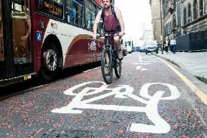 Cycling rates are highest in Edinburgh where nearly 10 per cent commute by bike. Picture: Ian Georgeson