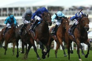 James Doyle (all dark blue) rides Blue Point to win The King's Stand Stakes at Royal Ascot. Picture: Charlie Crowhurst/Getty