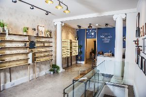 IOLLA eyewear showroom, North West Circus Place, Stockbridge.