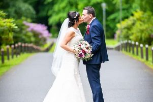 The newly married couple. Pic: David Shaw Photography