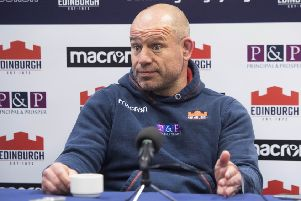 Edinburgh Rugby head coach Richard Cockerill