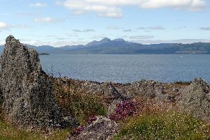 Views looking across the sound of Jura.