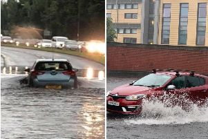 Edinburgh suffered a high volume of rainfall in a short period of time on Monday afternoon.