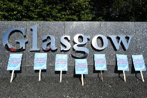 Airport workers have been on strike this month at Glasgow Airport. Picture: TSPL