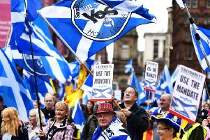 Pro independence supporters. Picture: PA