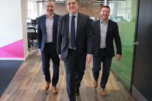 From left: Craig Donnelly, Neil Logan and Stuart Kerr of Incremental. Picture: Stewart Attwood