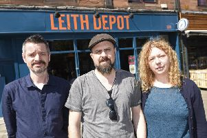 Leith Depot owners Pete Mason, Paddy Kavanagh and Julie Carty