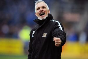 Alloa Athletic manager Jim Goodwin is wanted by St Mirren. Picture: Michael Gillen