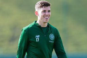 Ryan Christie is back in training with Celtic after recovering from a facial injury he sustained in April. Picture: Ross Parker/SNS