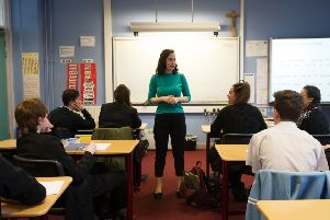 Could you stand in front of a classroom of teenagers, teach them valuable lessons while maintaining strict but friendly discipline? (Picture: John Devlin)