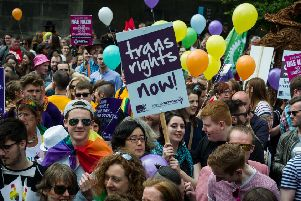 Pride in Edinbrugh was marred by hostility from some towards transgender participants (Picture: Steven Scott Taylor)